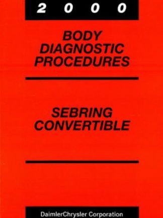 Chrysler Sebring Convertible Body Diagnostic Procedures 2000 Used