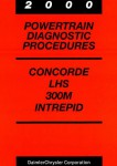 Concorde LHS 300M and Intrepid Powertrain Diagnostic Procedures Manual 2000 Used