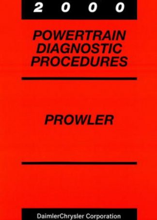 Plymouth Prowler Powertrain Diagnostic Procedures Manual 2000 Used