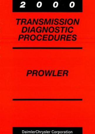 Plymouth Prowler Transmission Diagnostic Procedures Manual 2000 Used