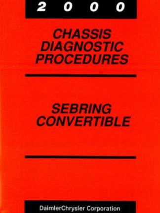 Chrysler Sebring Convertible Chassis Diagnostic Procedures Manual 2000 Used