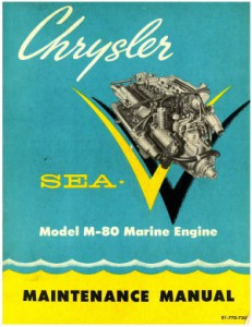 Chrysler SEA-V MODEL M-80 Marine Boat Engine Service Repair Manual 1