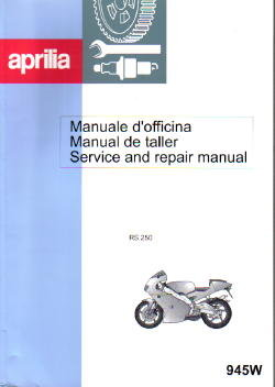 Official Aprilia 1998-2002 RS250 Challenge Service Manual