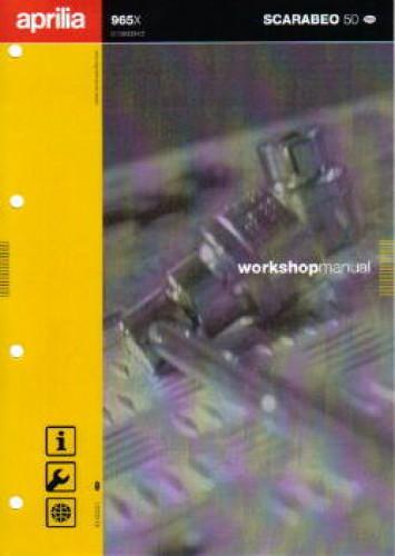 Official 2000-2007 Aprilia Scarabeo 50 Worksho Manual