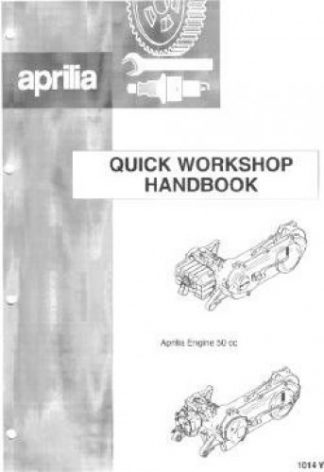 Official Aprilia Mojito 50 Scooter Engine Workshop Manual