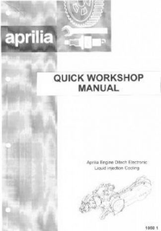 Official Aprilia SR50 Ditech Quick Reference Troubleshooting Guide