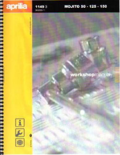 Official 2003-2009 Aprilia Mojito 50 125 And 150 Chassis Manual