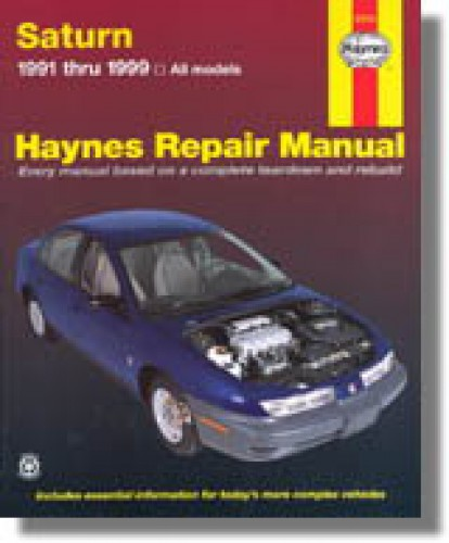 haynes 1991 2002 saturn s series auto repair manual rh repairmanual com 2000 Saturn L Series Manual 2001 Saturn L Series Problems