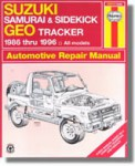 Haynes Suzuki Samurai Sidekick X-90 Vitara and Chevrolet Geo Tracker 1986-2001 Auto Repair Manual