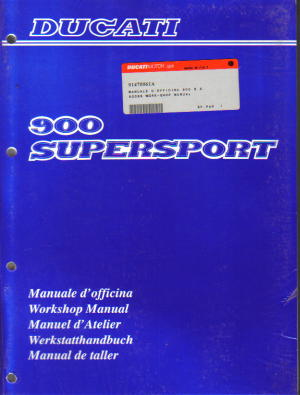 Official 1990 Ducati 900SS SUPERSPORT Factory Service Manual