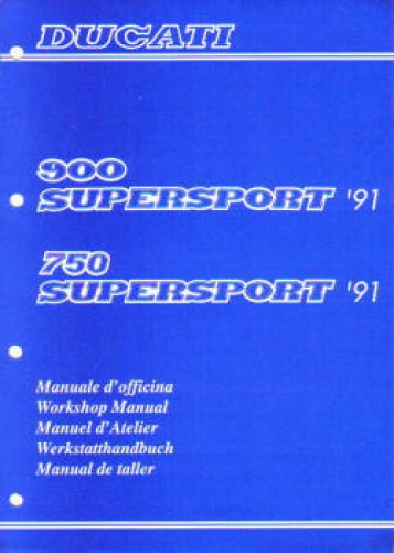 Official 1991 Ducati 750 900 SS Factory Service Manual
