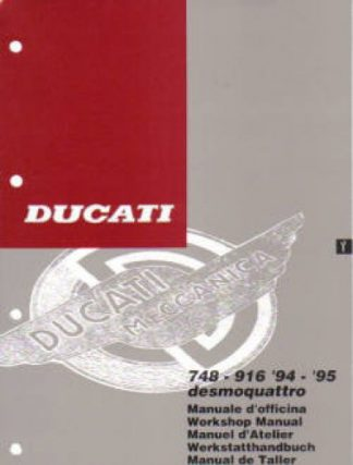 Official 1994-1995 Ducati 748-916 Factory Service Manual