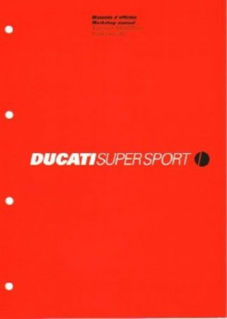 Official 2002 Ducati 900SS 900S Factory Service Manual