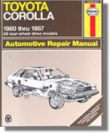 Haynes Toyota Corolla 1980-1987 Auto Repair Manual