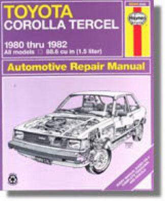 Haynes Toyota Corolla Tercel 1980-1982 Auto Repair Manual