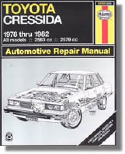 haynes toyota cressida 1978 1982 auto repair manual rh repairmanual com 2007 Toyota Yaris Diagrams Car Repair Manuals