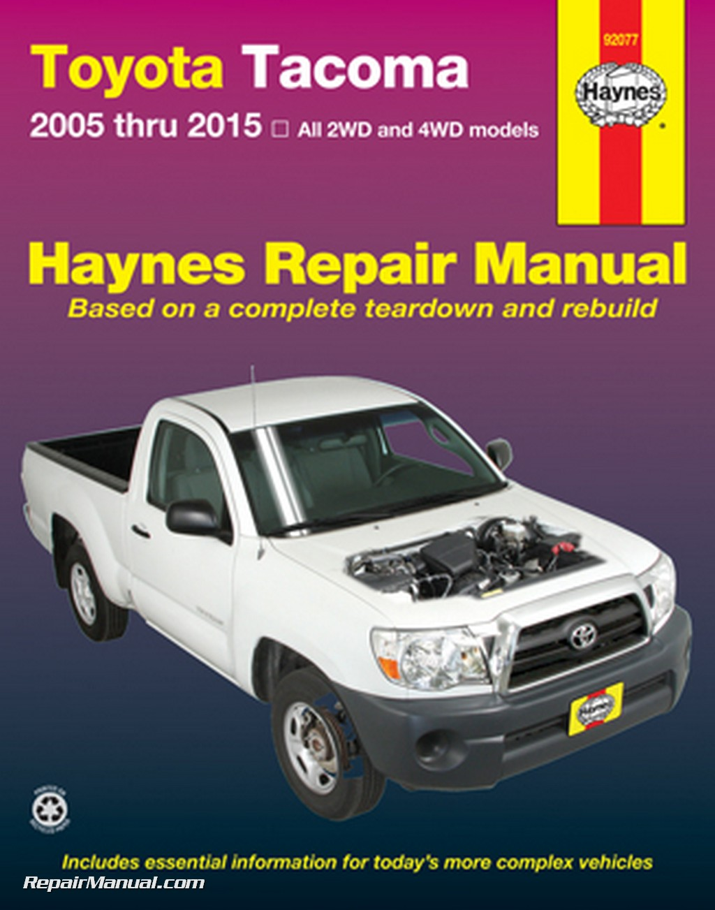 2014 Toyota Tacoma For Sale >> Haynes 2005-2015 Toyota Tacoma Truck Repair Manual