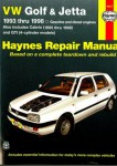 Haynes VW Golf GTI Jetta 1993-1998 VW Cabrio 1995-1998 Auto Repair Manual
