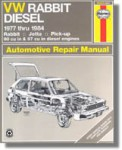 Haynes Rabbit Jetta Pick-up diesel 1977-1984 Auto Repair Manual