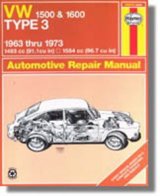 Haynes VW Type 3 1963-1973 Repair Manual