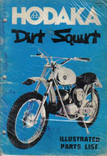 1973 1975 hodaka dirt squirt 100 spare parts manual