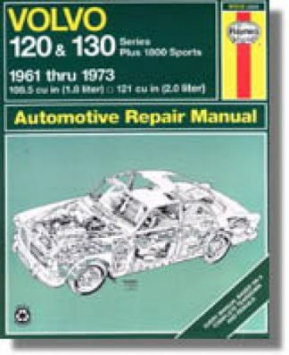 Haynes Volvo 120 130 Series 1800 Sports 1961-1973 Auto Repair Manual