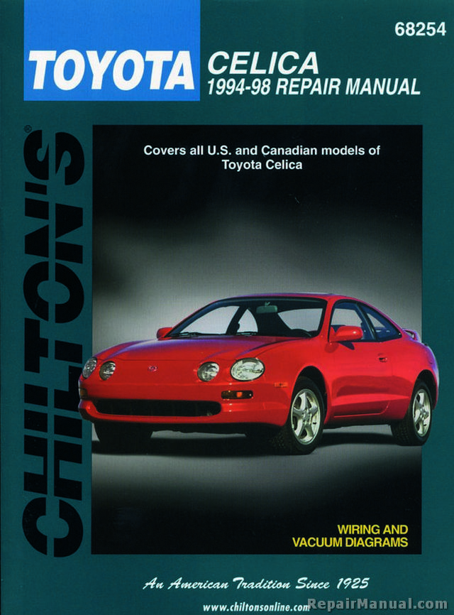 chilton toyota celica 1994 1998 repair manual rh repairmanual com 1998 toyota celica convertible manual 1998 toyota celica sx manual