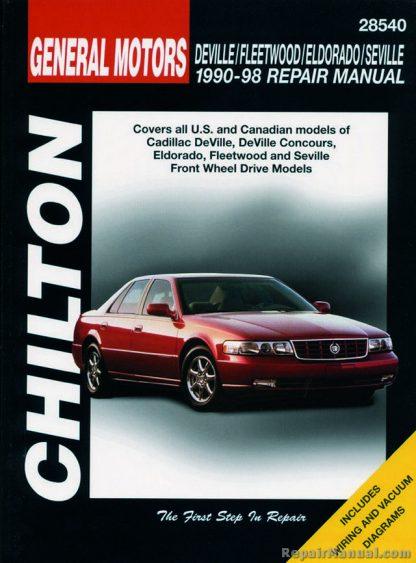 Chilton Cadillac DeVille Fleetwood Eldorado Seville 1990-1998 Repair Manual