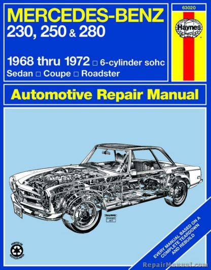 Haynes Mercedes-Benz 230 250 280 1968-1972 Auto Repair Manual