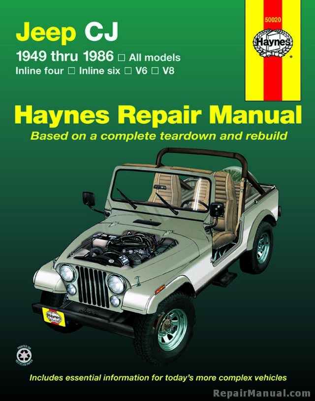 Haynes Jeep Cj 1949  U2013 1986 Service Repair Manual