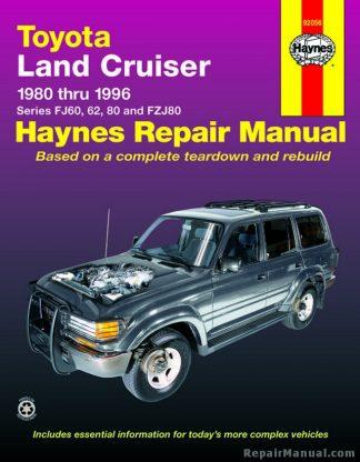 Haynes Toyota Land Cruiser 1980-1996 Auto Repair Manual