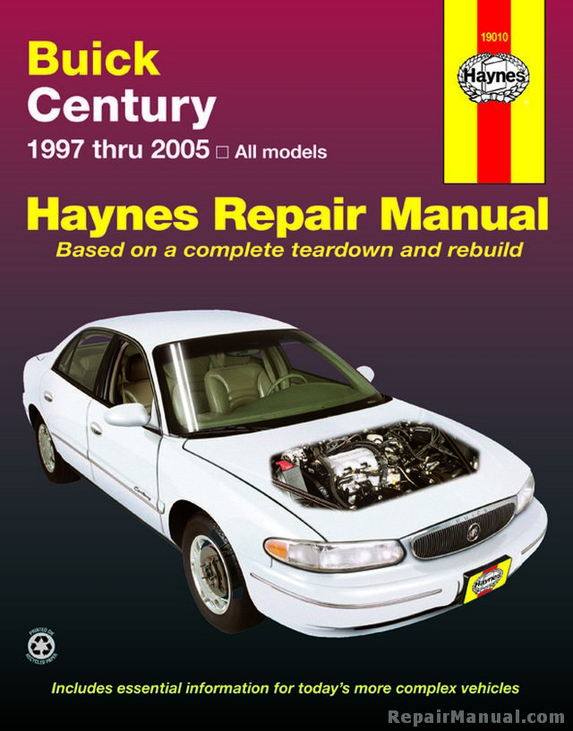 haynes buick century 1997 2005 car repair manual. Black Bedroom Furniture Sets. Home Design Ideas