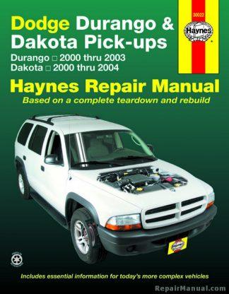 Dodge Durango 2000-2003 Dakota 2000-2004 Haynes Repair Manual