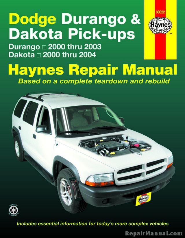 Dodge Durango 2000 2003 Dakota 2000 2004 Haynes Repair Manual border=