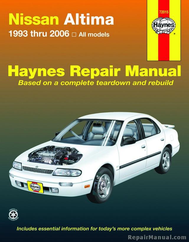 haynes nissan altima 1993 2006 auto repair manual. Black Bedroom Furniture Sets. Home Design Ideas