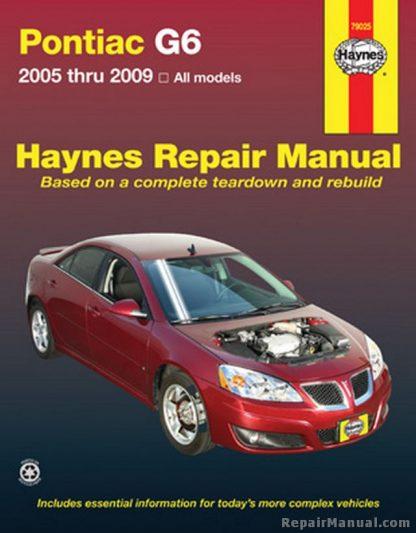 Haynes Pontiac G6 2005-2009 Auto Repair Manual