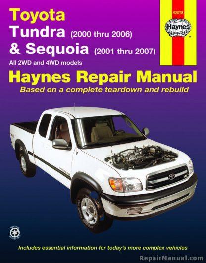 Haynes 2000-2006 Toyota Tundra 2001-2007 Sequoia Repair Manual