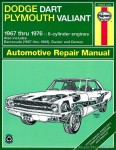 Haynes Dodge Plymouth Dart Demon Valiant Duster Barracuda 1967-1976 Repair Manual