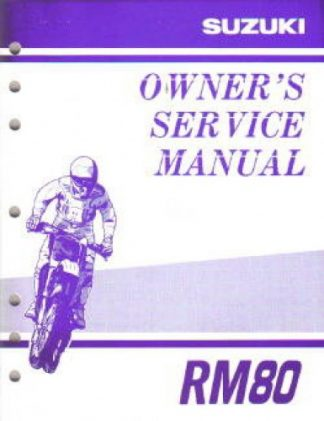 Official 2000 Suzuki RM80Y Factory Owners Service Manual