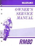 Official 2001 Suzuki RM80K1 Factory Service Manual