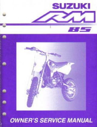 Official 2002 Suzuki RM85K2 Factory Service Manual