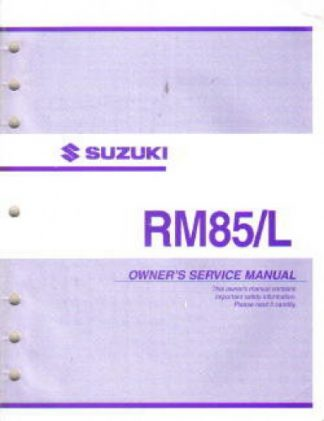 Official 2004 Suzuki RM85K4 Factory Service Manual