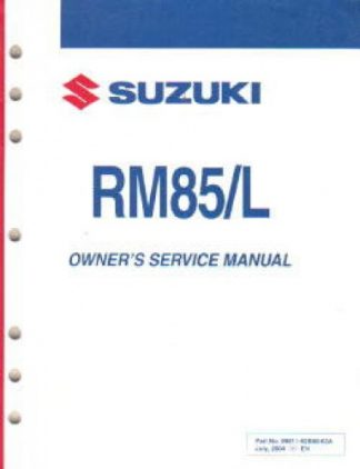 Official 2005 Suzuki RM85 Factory Owners Service Manual