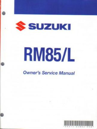 Official 2009 Suzuki RM85 RM85L Factory Owners Service Manual