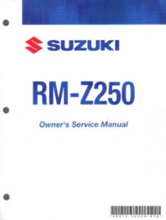 Official 2007 Suzuki RM-Z250 K7 Factory Owners Service Manual