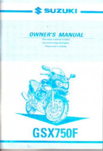 Official 2001 Suzuki Katana GSX750F Factory Owners Manual