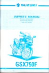 Official 2003 Suzuki Katana GSX750F Factory Owners Manual