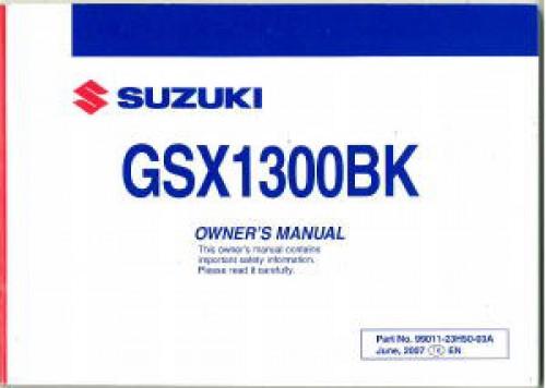 2008 suzuki gsx1300bk k8 b king motorcycle owners manual rh repairmanual com suzuki b-king service manual pdf suzuki b king owners manual pdf