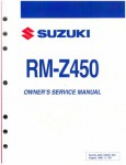 Official 2006 Suzuki RM-Z450 K6 Factory Service Owners Manual