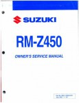 Official 2007 Suzuki RM-Z450 K7 Factory Owners Service Manual